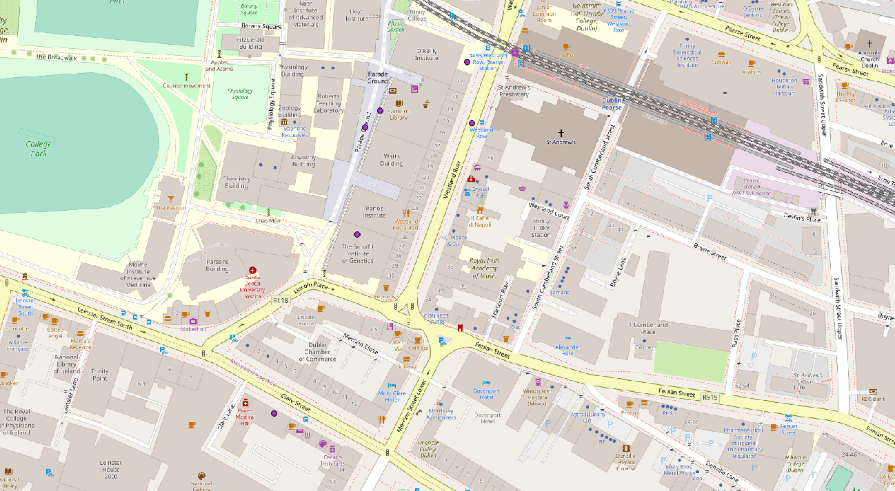Pearse Street Map